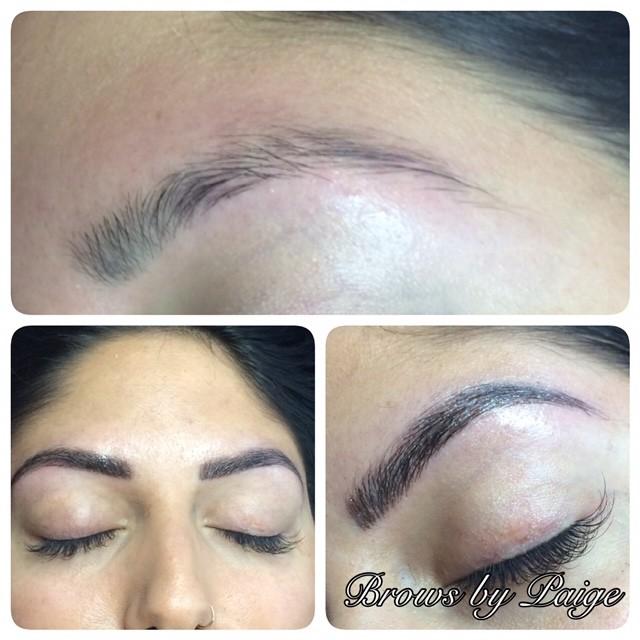 Permanent Eyebrow Microblading San Antonio Before After